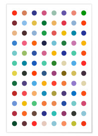 Premium poster  Polkadots in colour - THE USUAL DESIGNERS