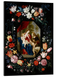 Acrylic print  The Virgin Mary and the Christ Child - Jan Brueghel d.J.