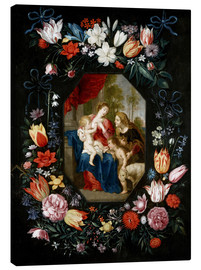 Canvas print  The Virgin Mary and the Christ Child - Jan Brueghel d.J.