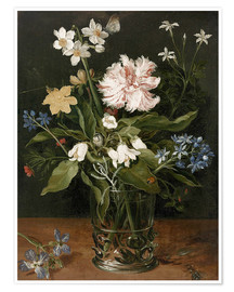 Premium poster  Still Life with Flowers in a Glass Vase - Jan Brueghel d.Ä.