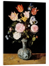 Acrylic print  Flowers in a Chinese Vase - Jan Brueghel d.Ä.