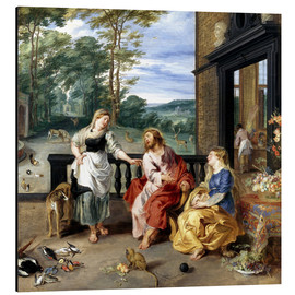 Aluminium print  Christ in the House of Martha and Mary - Jan Brueghel d.J.