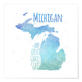 Premium poster michigan