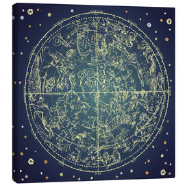 Canvas print  Star map