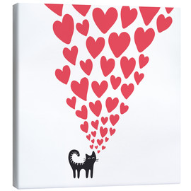 Canvas print  cat heart - Kidz Collection