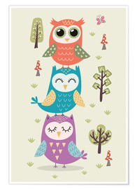 Premium poster  Three owls - Kidz Collection