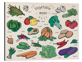 Aluminium print  Little vegetable menu