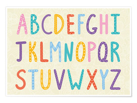 Premium poster  Colorful ABC letters - Typobox