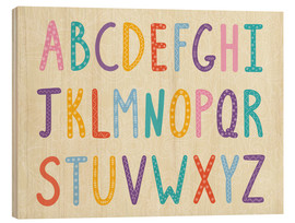 Wood print  Colorful ABC letters - Typobox