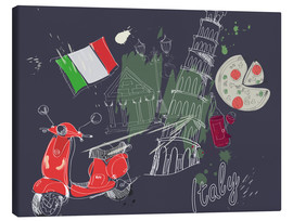 Canvas print  Let's go to Italy!