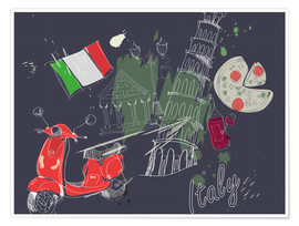Premium poster  Let's go to Italy!