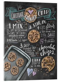 Acrylic print  Chocolate chip cookies recipe. - Lily & Val