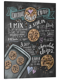Aluminium print  Chocolate chip cookies recipe. - Lily & Val