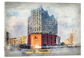 Acrylic print  The new Elbphilharmonie, Hamburg - Peter Roder