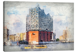 Canvas  The new Elbphilharmonie in Hamburg - Peter Roder
