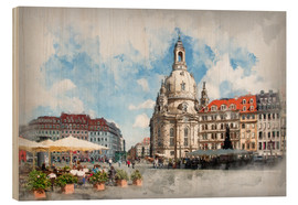 Wood print  Frauenkirche in Dresden - Peter Roder