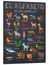 Aluminium print  Alphabet of Animals (Spanish) - Kidz Collection