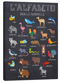 Canvas print  Alphabet of Animals (Italian) - Kidz Collection