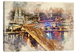 Canvas print  Cologne Skyline Cologne Cathedral - Peter Roder