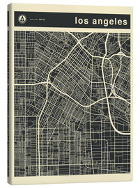 Canvas  Los Angeles City map - Jazzberry Blue