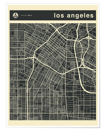 Premium poster Los Angeles City map