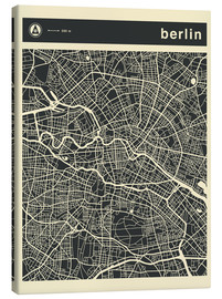 Canvas print  Berlin City Map - Jazzberry Blue