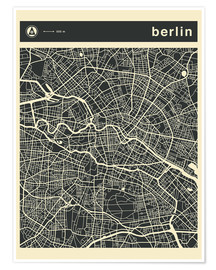 Premium poster Berlin City Map