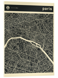 Acrylic glass  PARIS CITY MAP - Jazzberry Blue