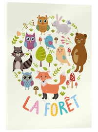 Acrylic print  The Forest (French) - Kidz Collection