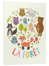 Foam board print  The Forest (French) - Kidz Collection