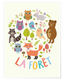 Poster  The Forest (French) - Kidz Collection