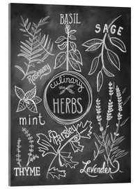 Acrylic print  Herbs - Lily & Val