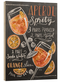 Wood print  Aperol Spritz - Lily & Val
