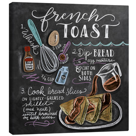 Canvas print  French toast recipe - Lily & Val