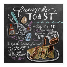 Premium poster  French toast recipe - Lily & Val
