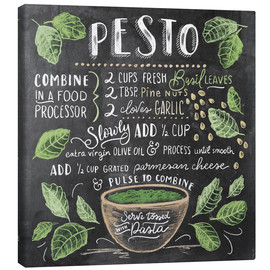 Canvas print  Pesto recipe - Lily & Val