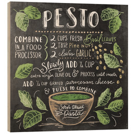 Wood print  Pesto recipe - Lily & Val