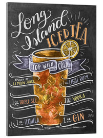 Acrylic print  Long Island Ice Tea recipe - Lily & Val