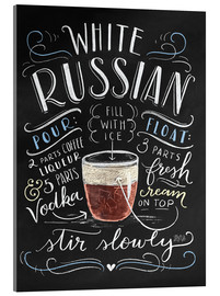 Acrylic print  white russian - Lily & Val