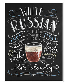 Poster  white russian - Lily & Val
