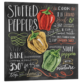 Aluminium print  Stuffed peppers recipe - Lily & Val