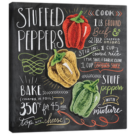 Canvas print  Stuffed peppers recipe - Lily & Val
