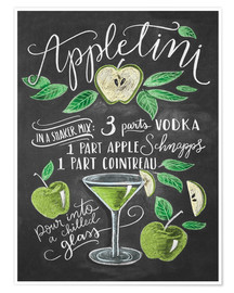 Premium poster Appletini Recipe