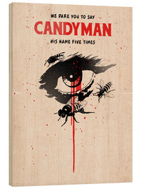 Wood print  Alternative candyman movie art print - 2ToastDesign