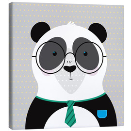 Canvas print  Panda with Glasses - ilaamen Pelshaw