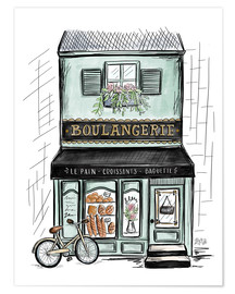 Premium poster  French Shop Front - Boulangerie - Lily & Val