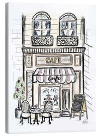 Canvas  French Shop Front - Café - Lily & Val
