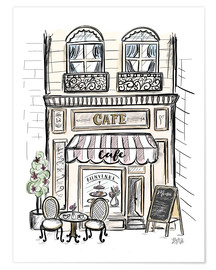 Poster  French Shop Front - Café - Lily & Val