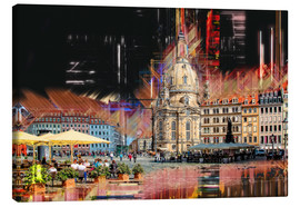 Canvas print  The new old Fauenkirche in Dresden - Peter Roder