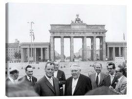 Canvas print  Ludwig Erhard and Willy Brandt